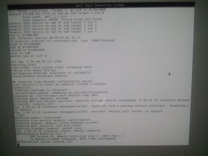 First Boot up output