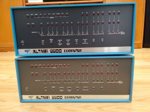 Altair Clone - with real MITS Altair 8800 on bottom