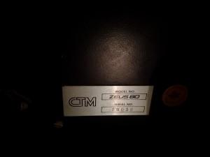 Zeus 80 - Serial number plate
