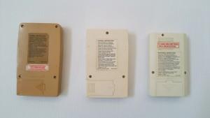 Mattel Electronics handheld games - back