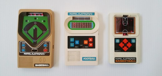 Mattel Electronics handheld games - front