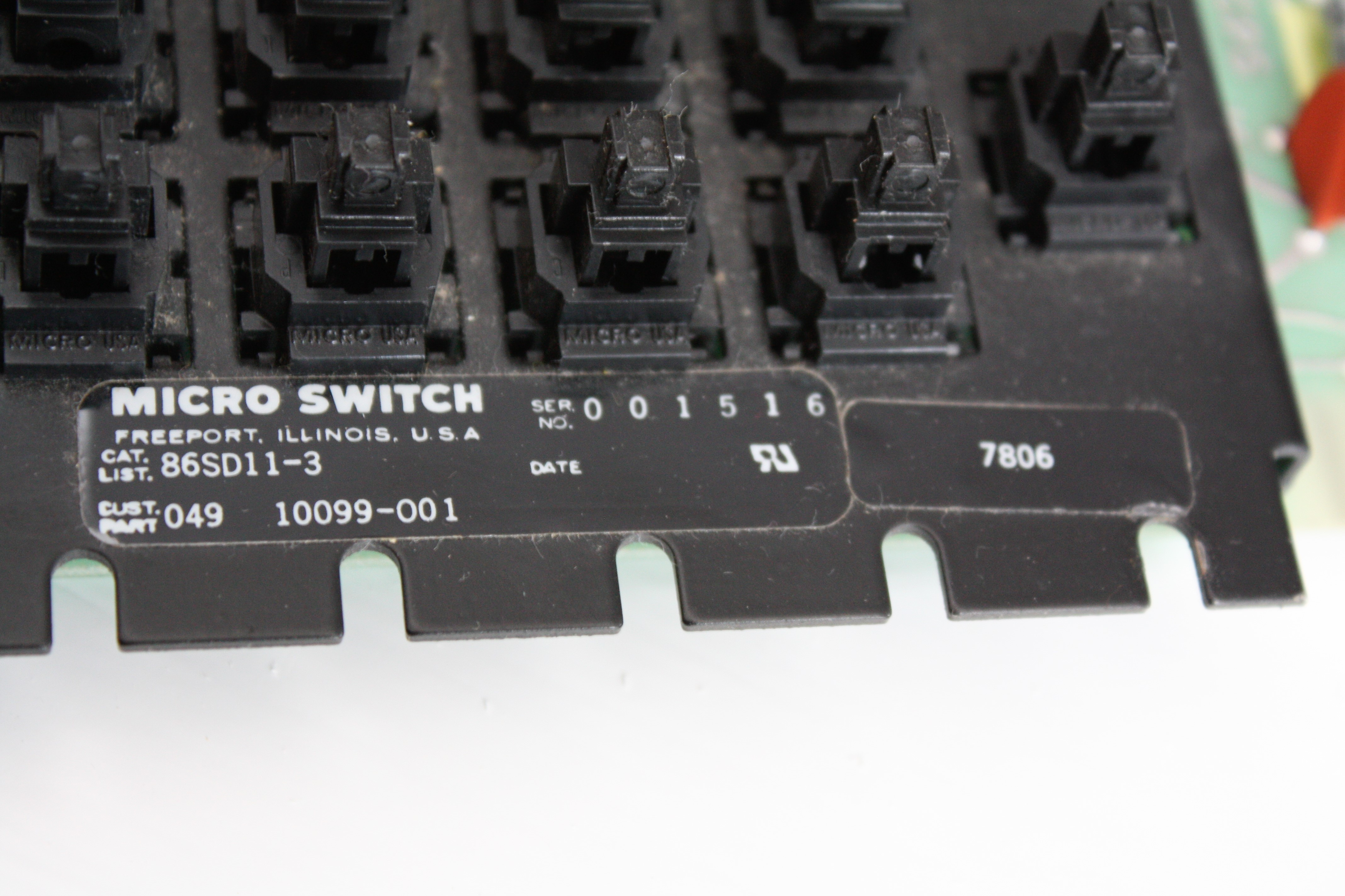 Honeywell Micro Switch Keyboard Microswitch Ti Mechanism Markings